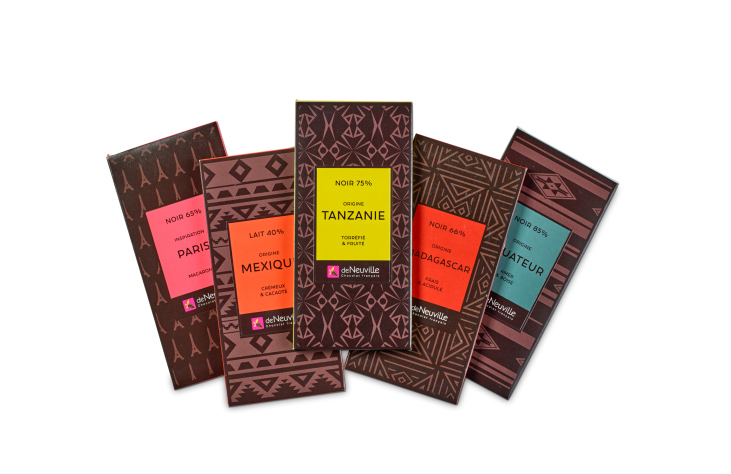assortiment tablettes chocolat deNeuville