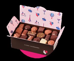 boite assortiments chocolats deNeuville Cagnes sur mer