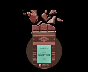 tablettes carrés chocolats deNeuville
